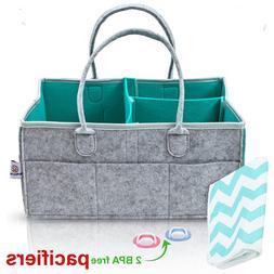 Baby Diaper Caddy Organizer-Baby Shower Gift Basket For Boys