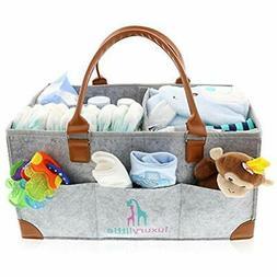 Baby Diaper Caddy Organizer - Extra Large Storage Nursery Bi