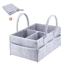 Baby Diaper caddy organizer with matching changing pad Regis