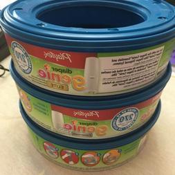 Playtex Baby Diaper Genie refill Bag pails 3 cartridges 270