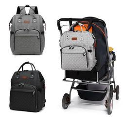 Baby Diaper Nappy Backpack Multi-Function Bag Polka Dot Grey