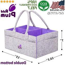 Baby Diaper Wipes Bag Caddy Nursery Storage Bin Infant Nappy