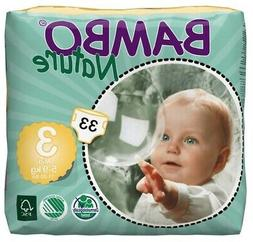 Bambo Nature Baby Diapers Classic, Size 3 , 33 Count