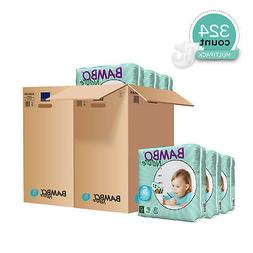 Bambo Nature Baby Diapers Classic, Size 5 , 324 Count