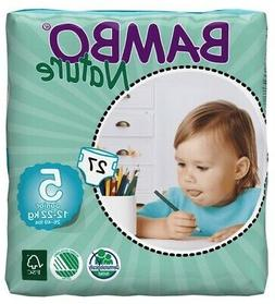 Bambo Nature Baby Diapers Classic, Size 5 , 27 Count