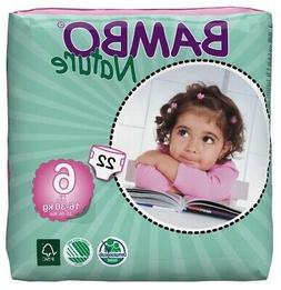 Bambo Nature Baby Diapers Classic, Size 6 , 22 Count