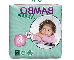 Bambo Nature Baby Diapers, Size 6 , 66 Count