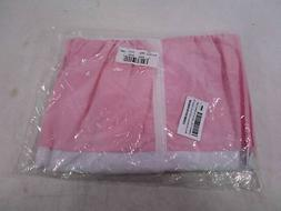 Baby Doll Bedding Solid Stripe Diaper Stacker Pink/White