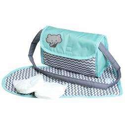 Adora Baby Doll Zig Zag Diaper Bag Accessories Changing Set