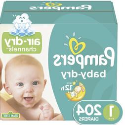 Pampers Baby Dry Diapers Size 1- 204 Count