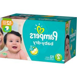 Pampers Baby Dry Diapers, Size 2  - 112 count