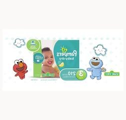 PAMPERS BABY DRY DISPOSABLE BABY DIAPER SIZE 3, 210 COUNT, O