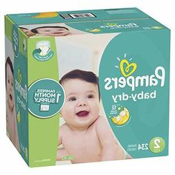 Pampers Baby-Dry Disposable Diapers Size 2  *Free 2 day ship