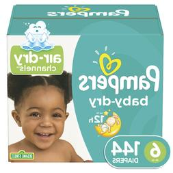 Pampers Baby-Dry Extra Protection Diapers Size 6, 144 Ct Fun