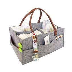 Baby Felt Diaper Caddy Organizer Foldable Storage Bag Box fo