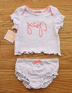 Juicy Couture Baby Girl Diaper Cover Set ~ White, Purple & O