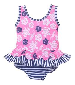 Flap Happy Baby Girl UPF 50+ Stella Infant Ruffle Suit with