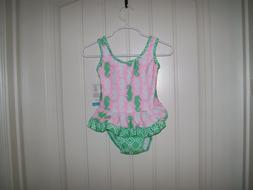 FLAP HAPPY BABY GIRLS SEAHORSE SWIMSUIT WITH BUILT IN SWIM D