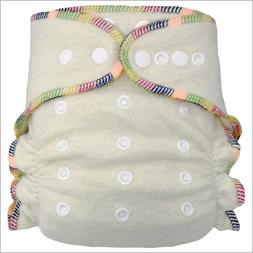 Baby Hemp Night Fitted Cloth Diaper, One Size