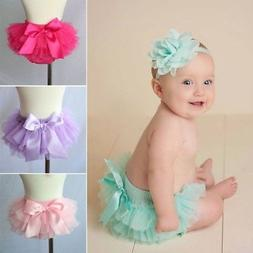 Baby Infant Girl Lace Ruffle Bloomer Nappy Panty Diaper Cove