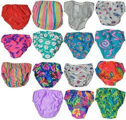 My Pool Pal Baby Infant Girls Reusable Swim Diaper Cover Run