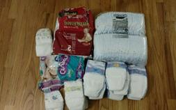 Baby LOT 110+ Diapers Huggies Ultratrim Pampers Sesame Stree