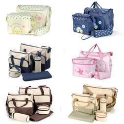 Baby Nappy Diaper Changing Bag Handbag Bottle Holder Change