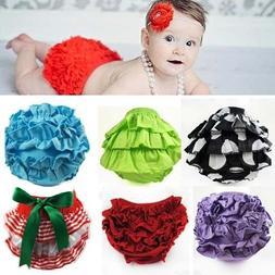 Baby Ruffle Pants Bloomers Pettiskirt Diaper Covers Tutu Sol