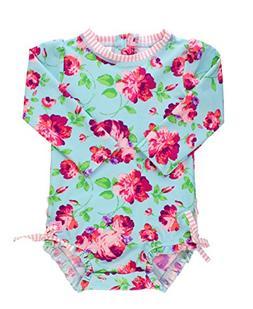 RuffleButts Baby/Toddler Girls Life is Rosy One Piece Rash G