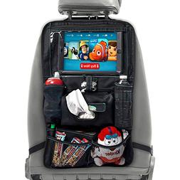 XL Car Seat Organizer for Kids - Car Seat Back Protector wit