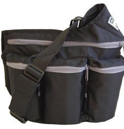 Diaper Dude Bag Black Cross Body Messenger Diaper Bag Unisex
