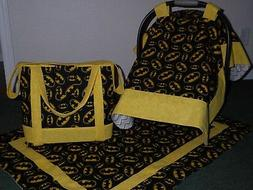 **BATMAN**Diaper Bag/tote Car Seat Canopy & matching blanket