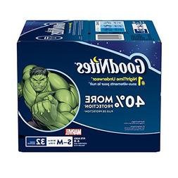 GoodNites Bedtime Bedwetting Underwear for Boys, S-M, 32 Ct.
