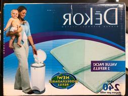 1 Box of Diaper Dekor Biodegradable Refills 2 Pack Regular/C