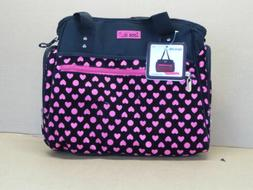 Black Pink Baby Girl Diaper Bag with Easy Access Storage & W