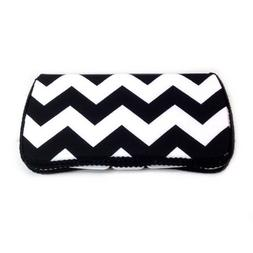 Black and white chevron baby wipes case for diaper bag