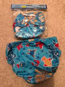 Blue FINIS Reusable Swim Diaper XL 18-24 Months or 28-33 lbs