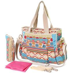 KF Baby Bohemian Diaper Bag Value Set, Crossbody strap, Stro
