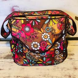 Baby Kaed Boho Floral Backpack Diaper Bag With Accessories