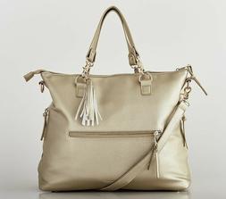 Bella Tunno™ Boss 7-in-1 Backpack Diaper Bag in Gold/MEtal