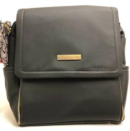 Petunia Pickle Bottom Boxy Baby Diaper Bag Backpack Black Ma
