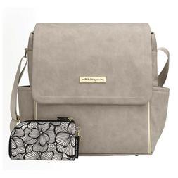 Petunia Pickle Bottom Boxy Backpack, Grey Matte Leatherette