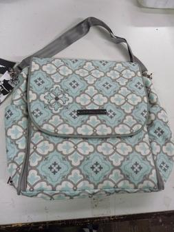 Petunia Pickle bottom Boxy Backpack gray mint  diaper bag RE