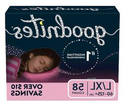 GoodNites Bedtime Bedwetting Underwear for Girls Size L/XL 5