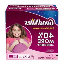GoodNites Bedtime Bedwetting Underwear for Girls Size L/XL 5