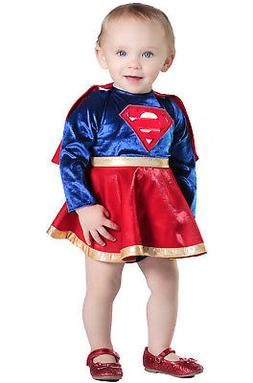 Superhero Supergirl Dress and Diaper Cover Infant/Toddler Co
