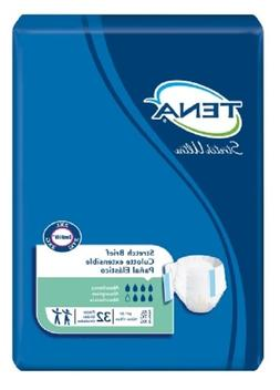 TENA Brief, Stretch Ultra 2X-LARGE, Tab Closure Adult Diaper
