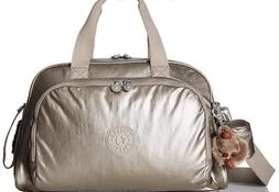 Kipling Camama Diaper Bag, Metallic Pewter