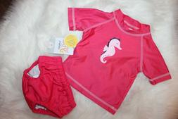 Carter's Infant/Toddler Girls Rash Guard Shirt W/Swim Suit D