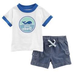 Carters Boy Rash Guard Baby Swim Diaper Cover Whale 6 Months